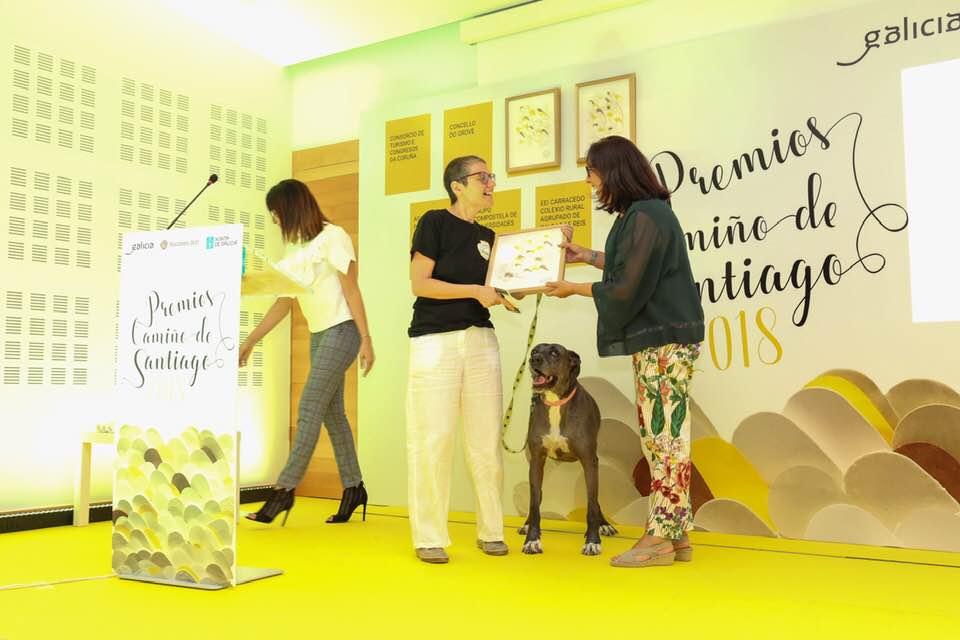 Unha protectora nos premios do Camiño De Santiago 2018 video